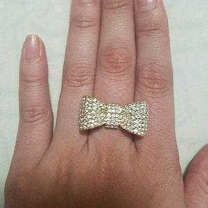 Adjustable Bow-tie Pave Ring by T & J Designs